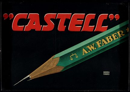 "Poster for A.W. Faber's ""Castell"" Pencil"