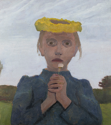 Girl with Yellow Wreath and Daisy