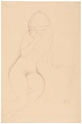 Seated Nude with Hand at Cheek