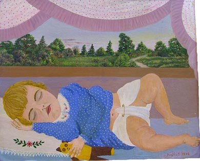 Donna Phelps Asleep in Crib