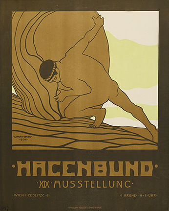 Poster for the Nineteenth Exhibition of the Hagenbund, Vienna