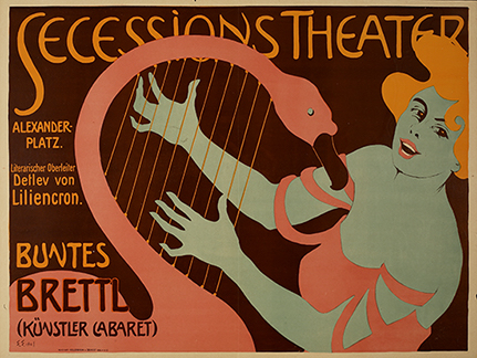 Poster for the Artists' Cabaret at the Berlin Secession Theater
