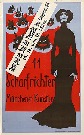 Poster for the Elf Scharfrichter, Munich