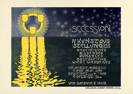 Poster for the Fourth Exhibition of the Vienna Secession
