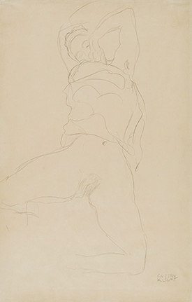 Reclining Woman with Raised Arms