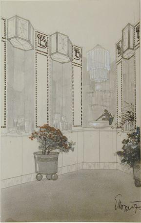 Interior for the E.B. Söhne Glassware Shop, Spiegelgasse, Vienna