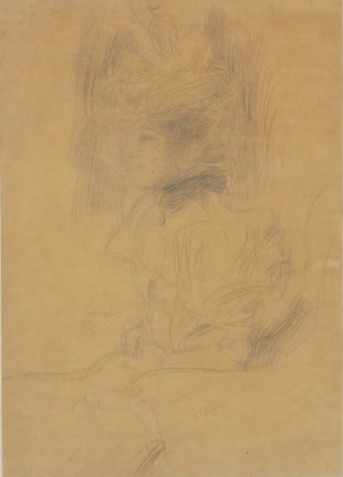 Seated Woman with Hat and Veil