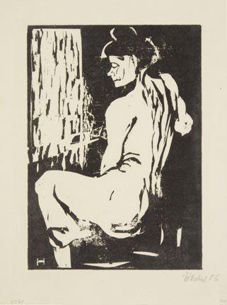 Seated Female Model