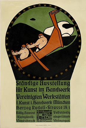 Poster for the Permanent Exhibition of the Vereinigten Werkstätten für