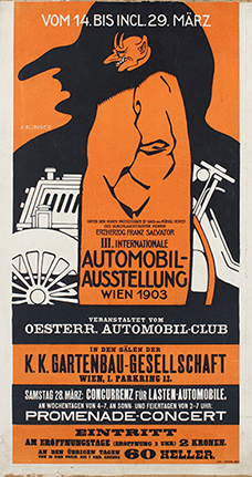 Poster for the Third International Automobile Exhibition, Berlin