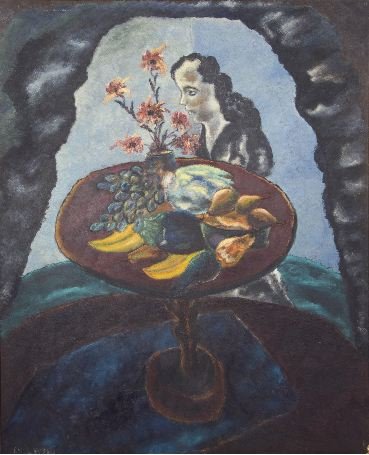Woman with Still Life