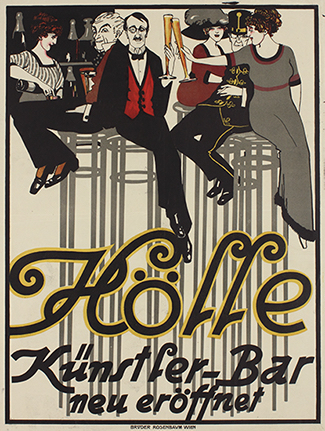 Poster for the Artists' Bar Die Hölle, Vienna